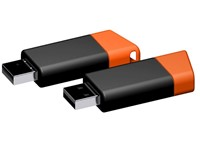 USB stick Flow 2.0 oranje-zwart 2GB