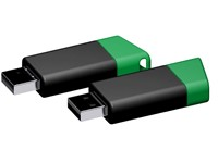 USB stick Flow 2.0 groen-zwart 16GB