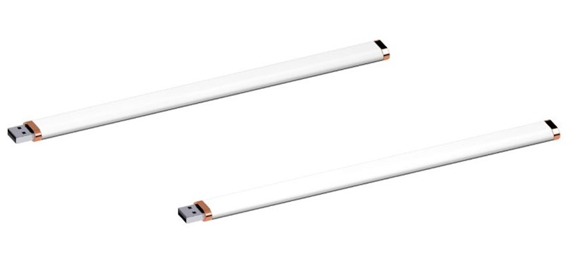 USB stick Armband rubber 2.0 wit-koper 1GB