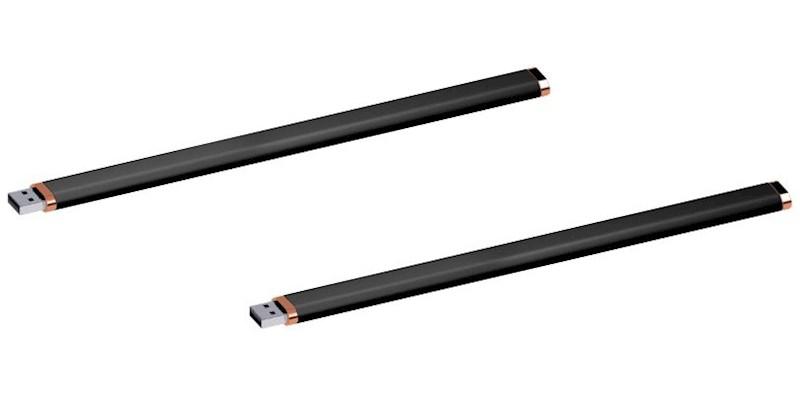 USB stick Armband rubber 2.0 zwart-koper 4GB