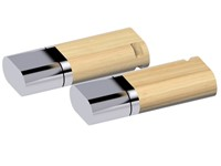 USB stick Duo hout 2.0 Bamboe-chroom 512MB