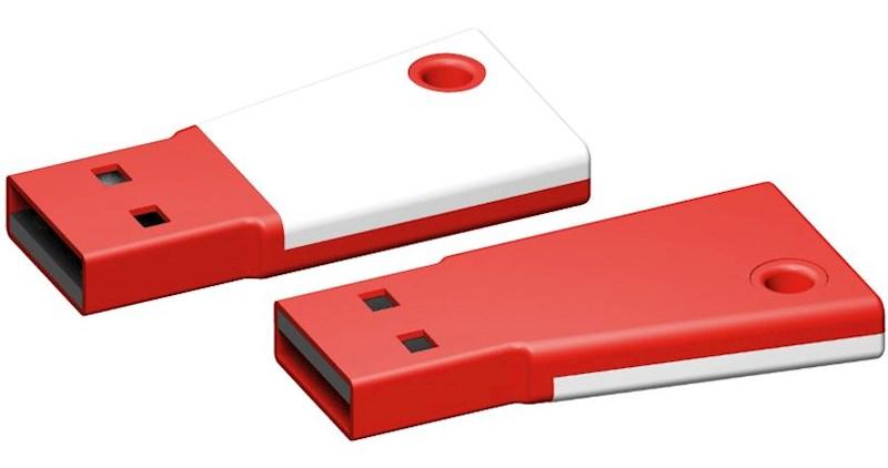 USB stick Flag 3.0 wit-rood 8GB