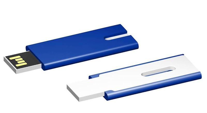 USB stick Skim 2.0 blauw-wit 32GB