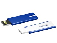 USB stick Skim 2.0 blauw-wit 1GB