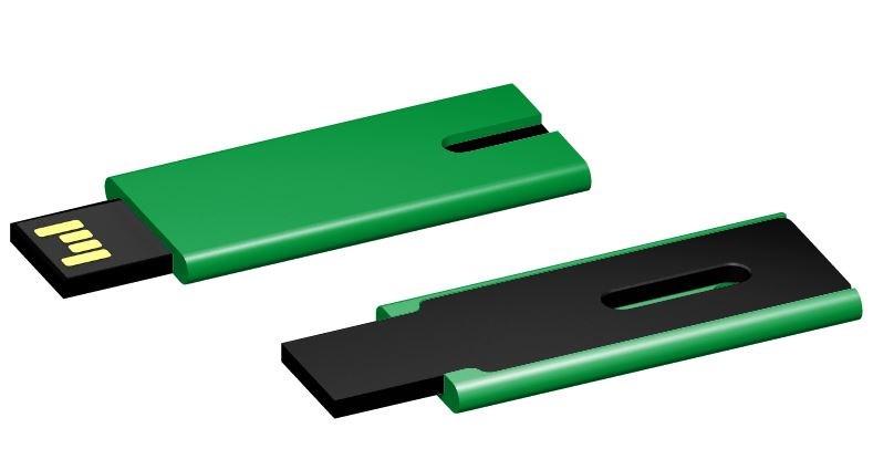 USB stick Skim 2.0 groen-zwart 64GB