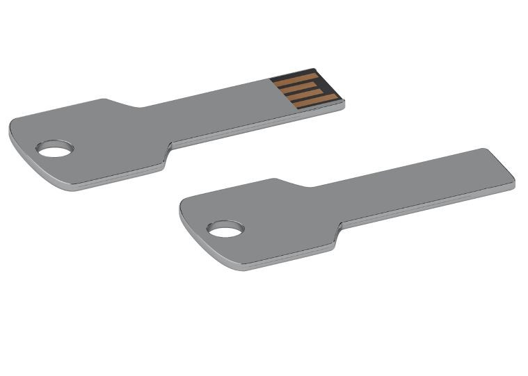 USB stick Sleutel vierkant 2.0 chroom 64GB