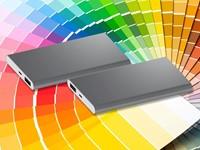 Powerbank Sharp aluminium 4000 mAh PMS kleur