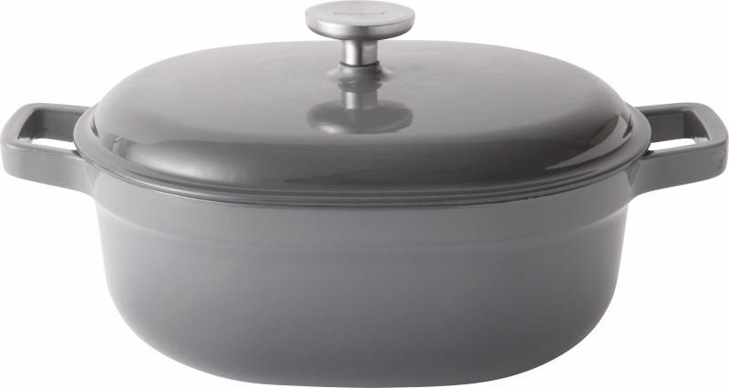 Gem Line gietijzeren kookpot ovaal met deksel 27cm