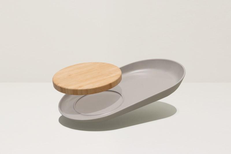 Leo Line ovale snijplank/serveerbord ovaal