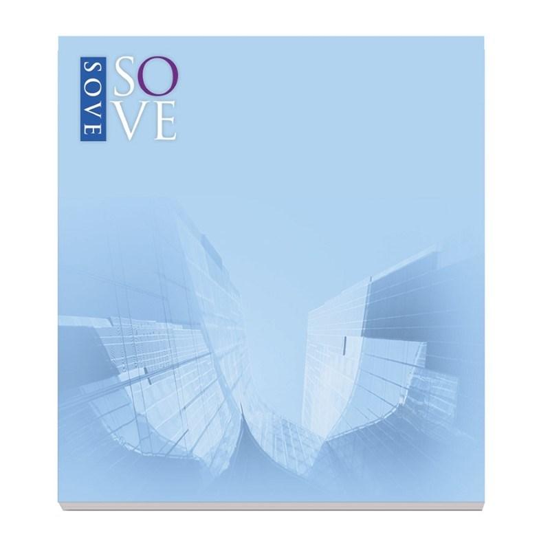 BIC® 68 mm x 75 mm notitieboekje met 50 vel zelfklevende memoblaadjes Ecolutions®