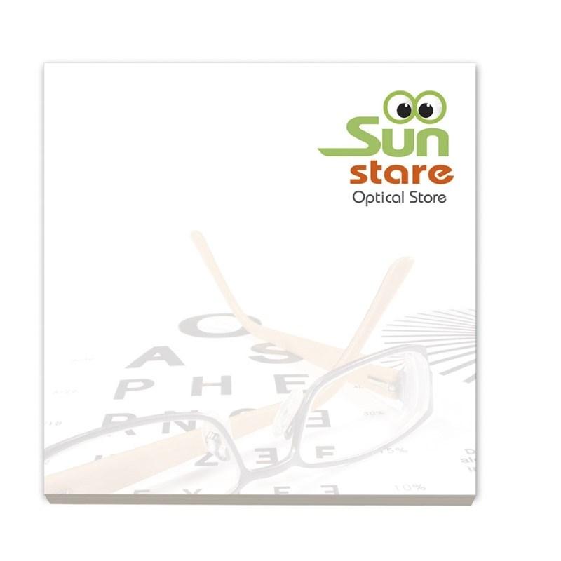BIC® 75 mm x 75 mm notitieboekje met 50 vel zelfklevende memoblaadjes Ecolutions®
