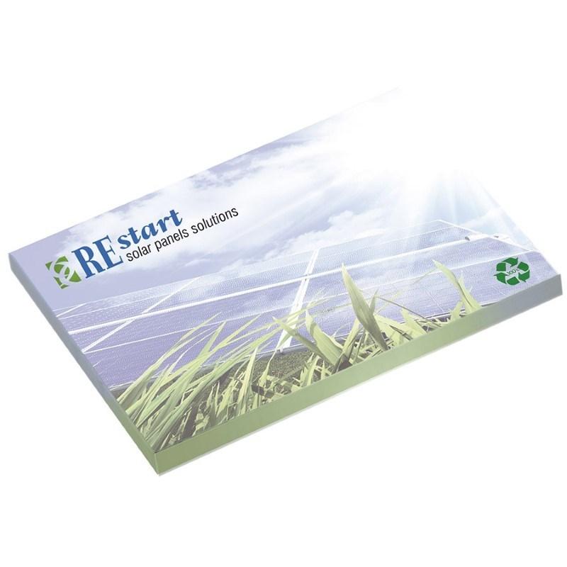 BIC® 101mm x 75 mm notitieboekje met 50 vel zelfklevende memoblaadjes Ecolutions®