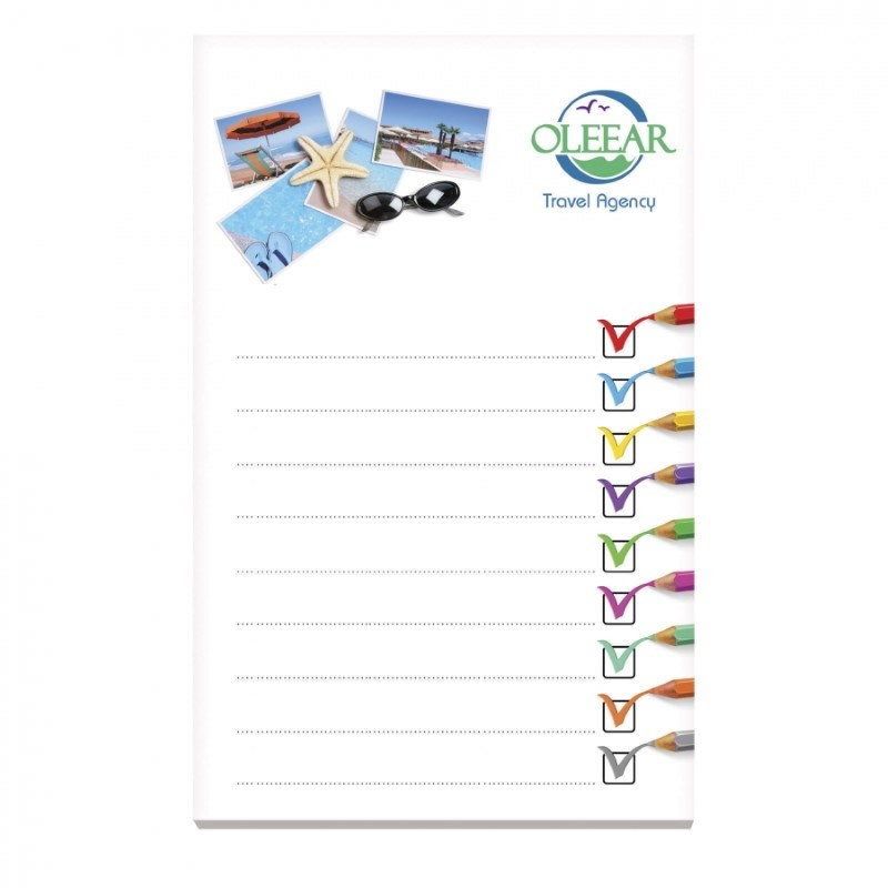 BIC® 101 mm x 152 mm notitieboekje met 50 vel zelfklevende memoblaadjes Ecolutions®