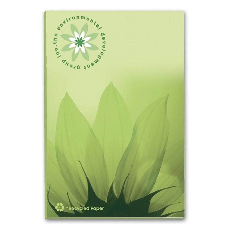 BIC® 50 mm x 75 mm notitieboekje met 100 vel zelfklevende memoblaadjes Ecolutions®