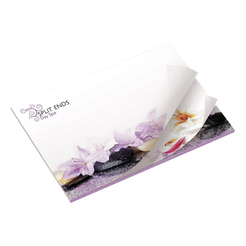 BIC® 101 mm x 75 mm notitieboekje met afwisselende opdruk met 25 vel zelfklevende memoblaadjes