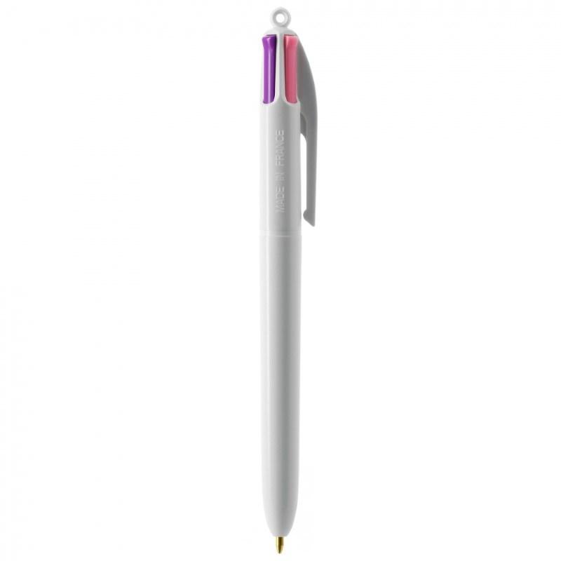 BIC® 4 Colours Fashion britePix™ balpen + lanyard