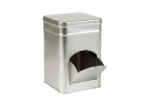 Dispenserblik zilver