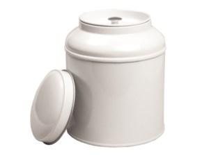 Blik met dubbel (koepel)deksel - wit