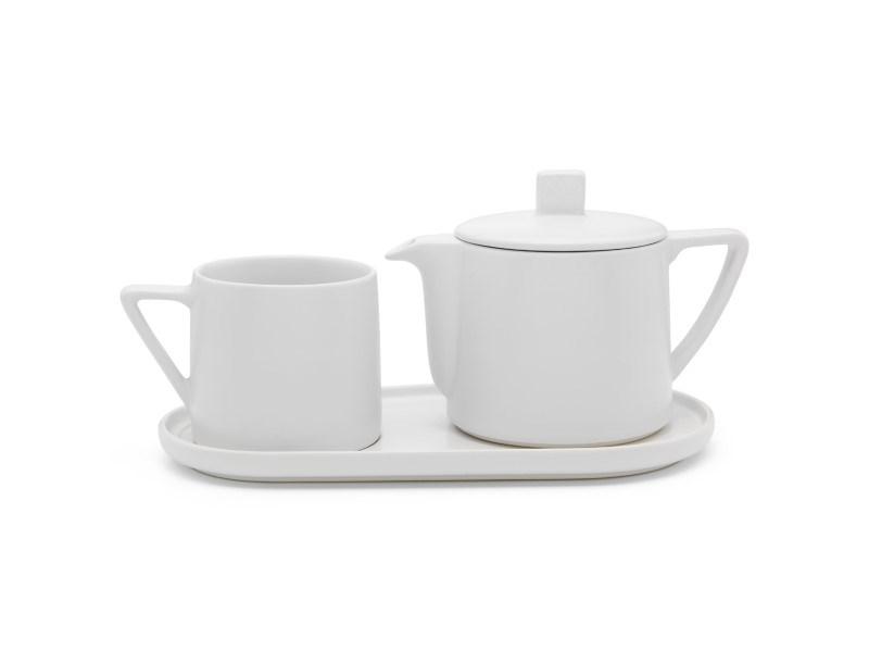 Tea-for-one set Lund, wit