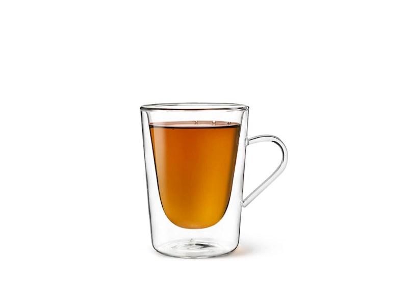 Dubbelwandig glas Koffie en Thee, 29,5cl, 2 stuks