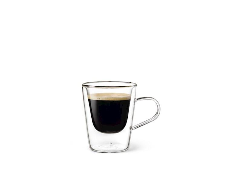 Dubbelwandig glas Espresso, 10cl, 2 stuks