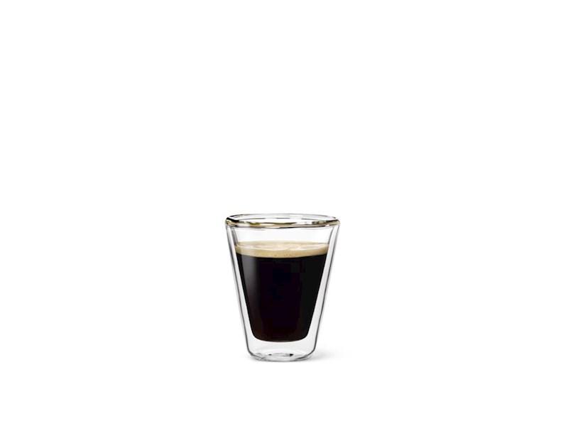 Dubbelwandig glas Caffeino, 8,5cl, 2 stuks