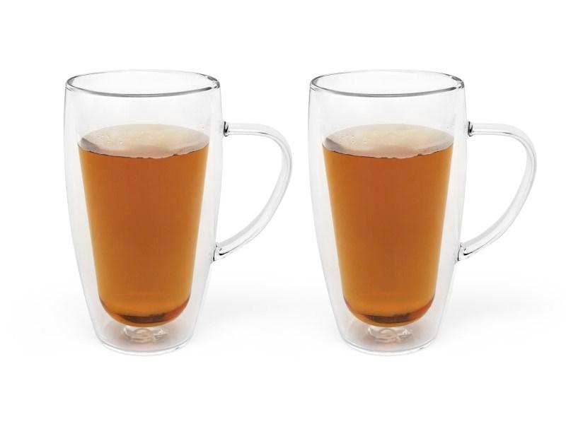 Dubbelwandig glas Koffie/Thee, 320 ml, 2 stuks