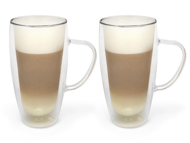 Dubbelwandig glas Cappuccino/Latte Macchiato, 400 ml, 2 stuks
