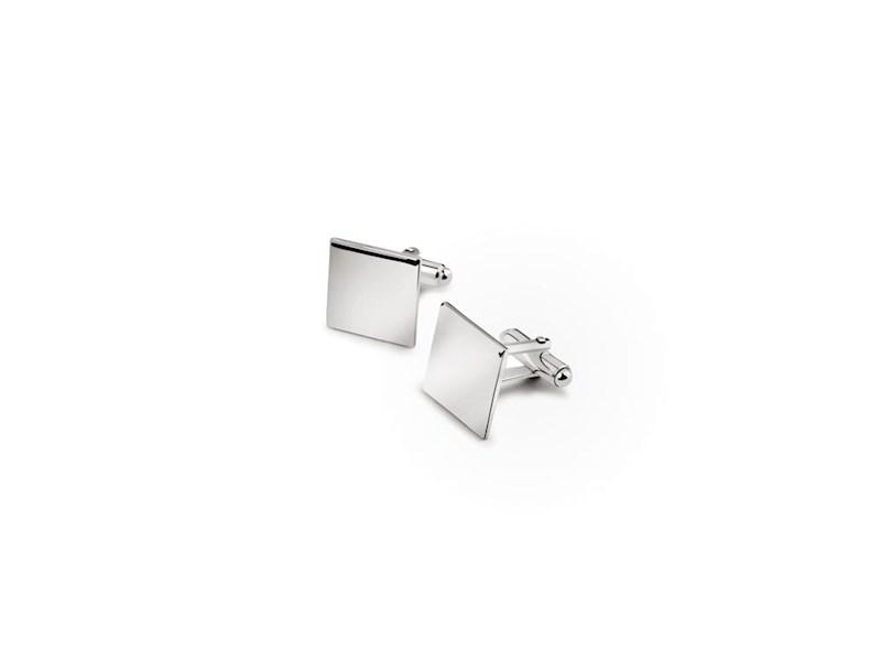 Manchetknopen vierkant (B90 zwaar verzilverd)