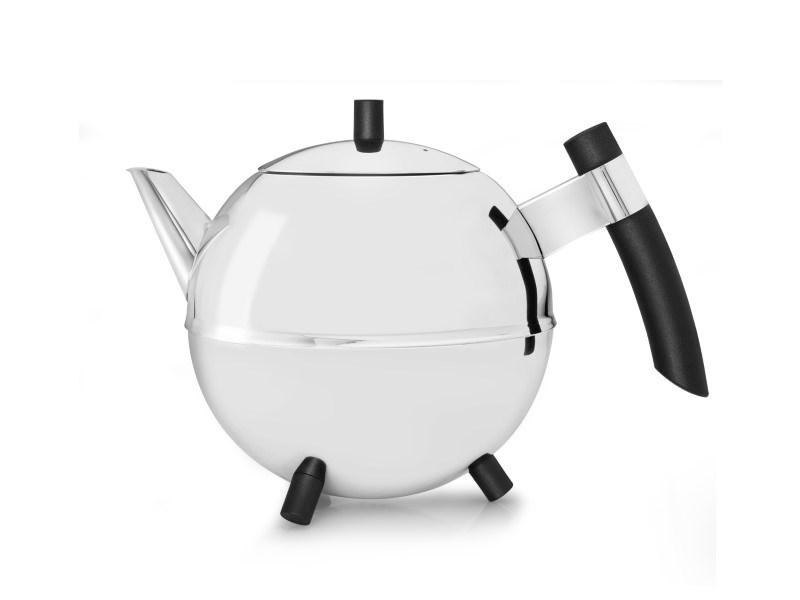 Theepot Duet® Design Meteor 1,2L, zwart beslag