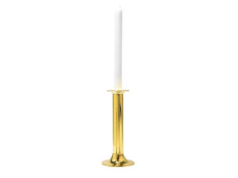 Kandelaar Tube 22 cm, goudkleurig, 2 stuks
