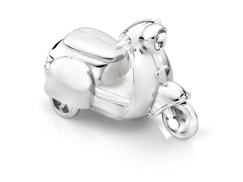 Spaarpot Scooter, verzilverd gelakt