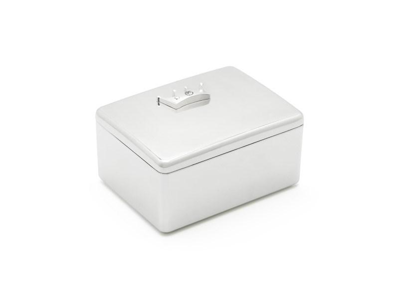 What-not-box Kroon, verzilverd gelakt