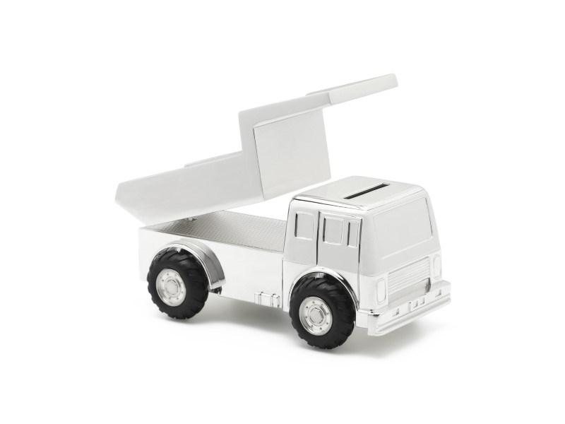 Spaarpot Truck, verzilverd gelakt