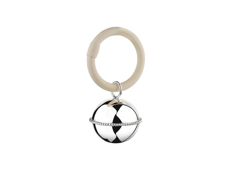 Rammelaar Bal parel aan ring (925 zilver)