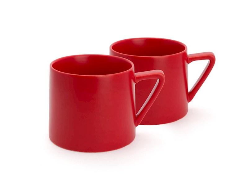 Beker Lund, rood, set van 2