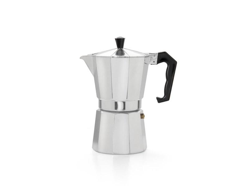 Espressomaker 6 kops, aluminium