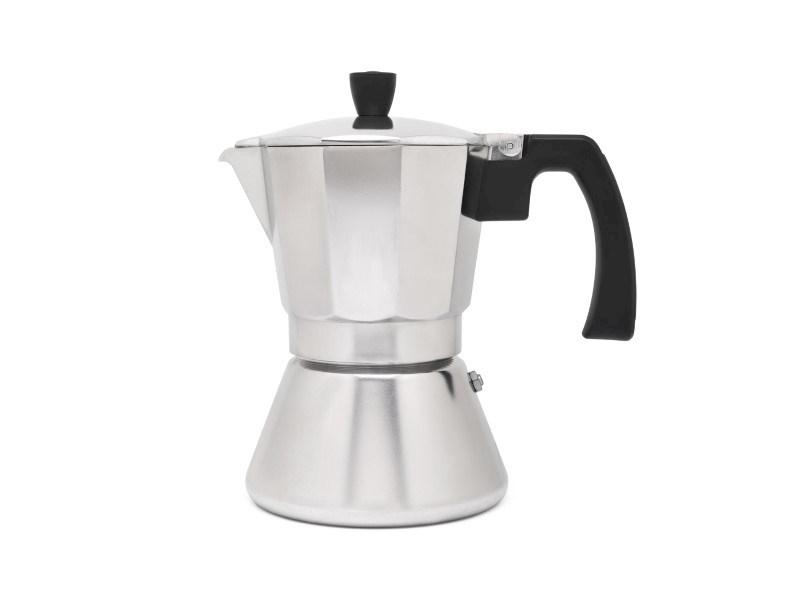 Espressomaker Tivoli, aluminium, 6 cups, rvs/aluminium
