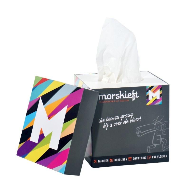 Tissue box met deksel
