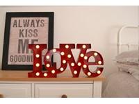 Giggle Beaver Carnival LED Lamp LOVE - Rood