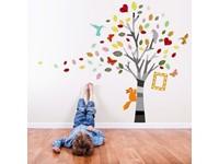 Walplus Home Decoratie Sticker - Foto Boom Gekleurd