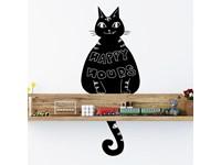 Walplus Krijtbord Decoratie Sticker - Zwarte Kat