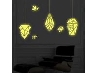 Walplus Glow in the Dark Decoratie Sticker - Geometrische Lampen