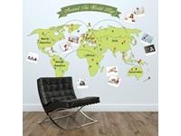 Walplus Home Decoratie Sticker - Rond de Wereld Kaart