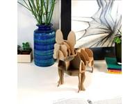 Milimetrado - Mini Franse Bulldog van Karton - Decoratief opbergrek