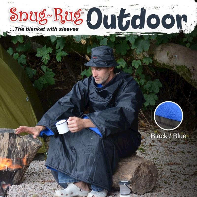 Snug-Rug Outdoor Deken met Hoed – Blauw