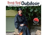 Snug-Rug Outdoor Deken met Hoed – Rood