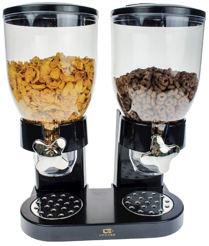 United Entertainment Cornflakes Dispenser - Zwart