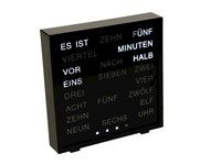 United Entertainment LED Woord Klok - Duits 17x16.5 cm