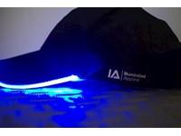 IA LED Light Up Baseball Cap - Zwart met Blauw Licht